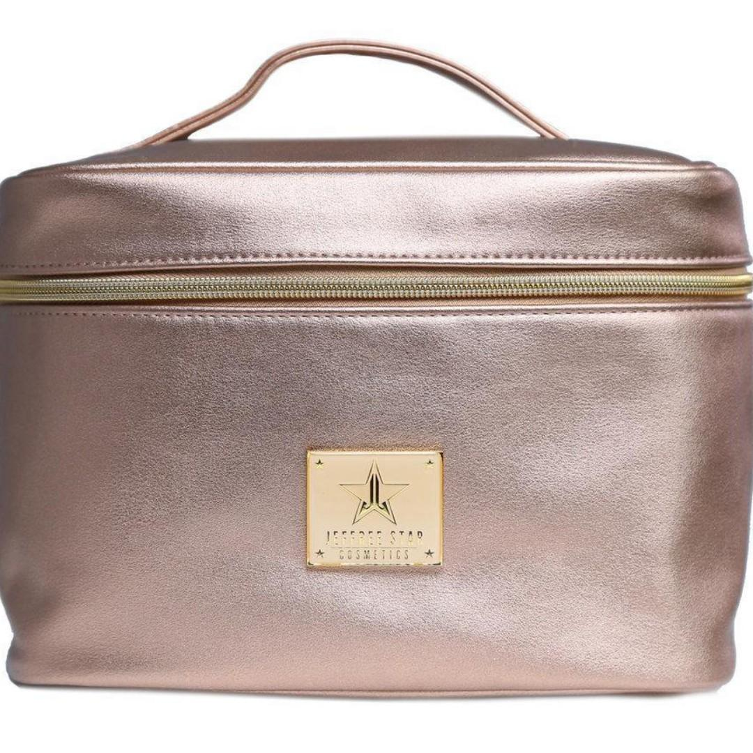 JEFFREE STAR MAKEUP BAG Travel Train Case ROSE GOLD Faux Leather BRAND NEW & AUTHENTIC [PRICE IS FIRM, NO SWAPS]