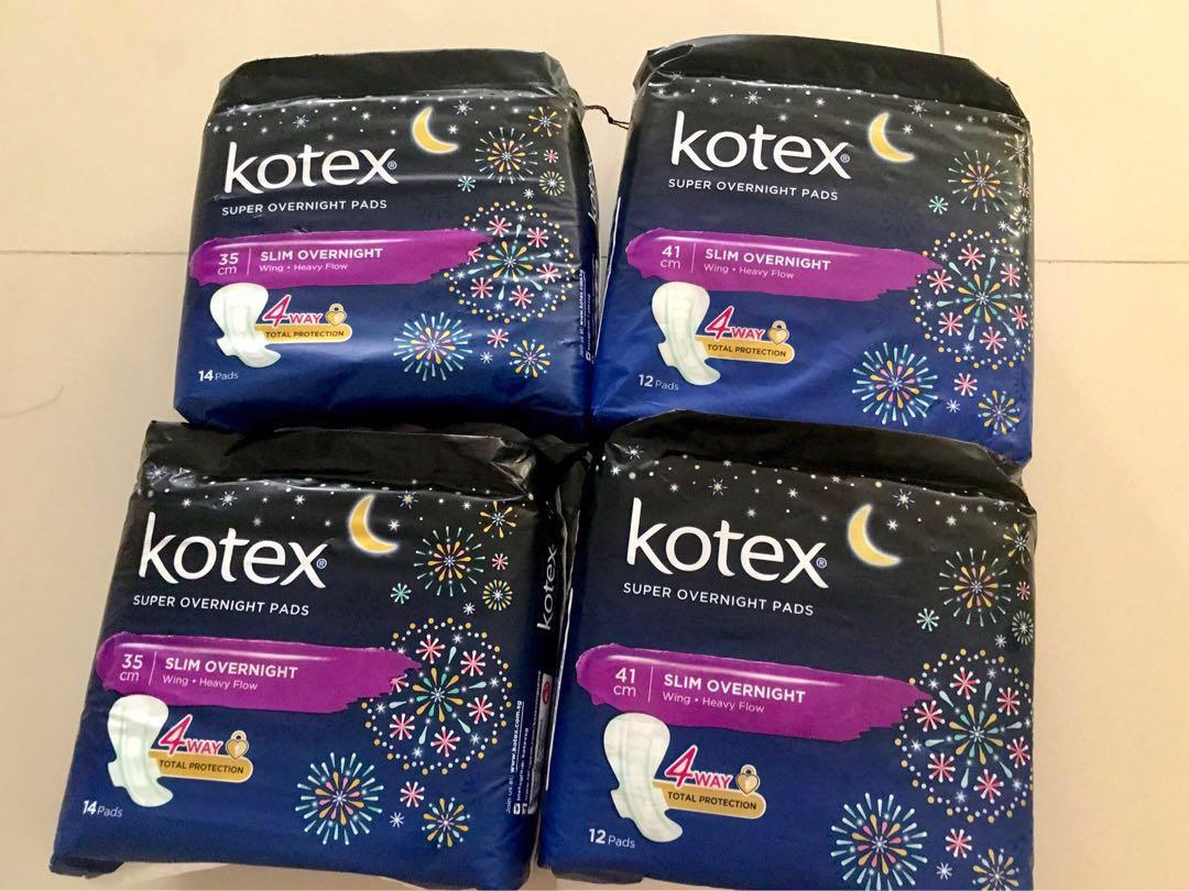 Kotex Sanitary Pads - overnight wing 35cm and 41cm
