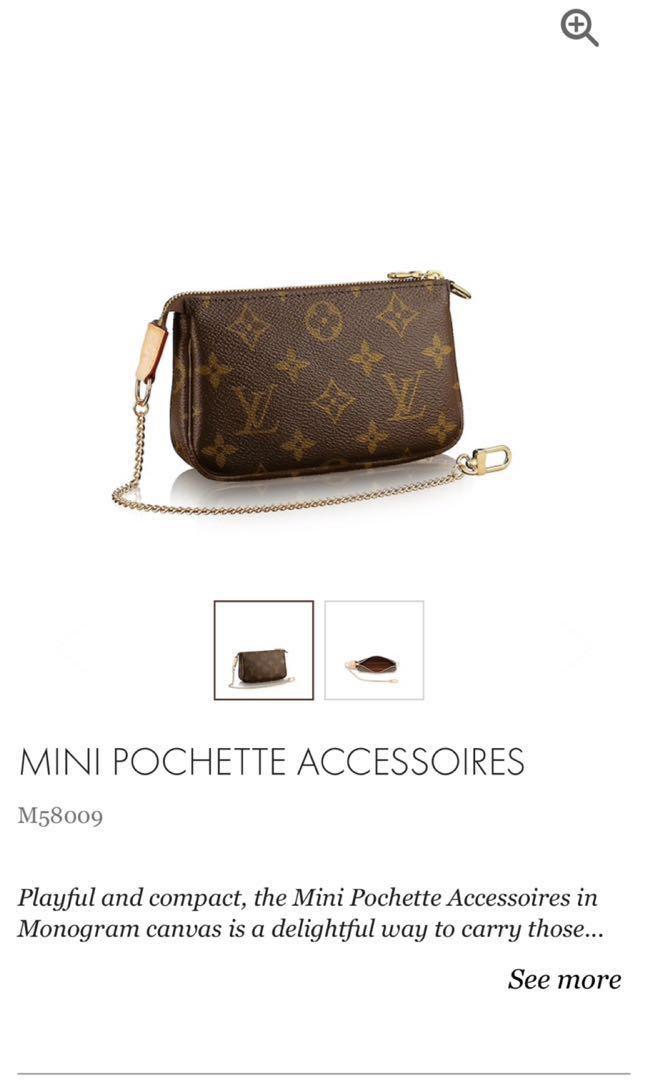 9f0020591678 Louis Vuitton mini pochette pouch monogram clutch bag