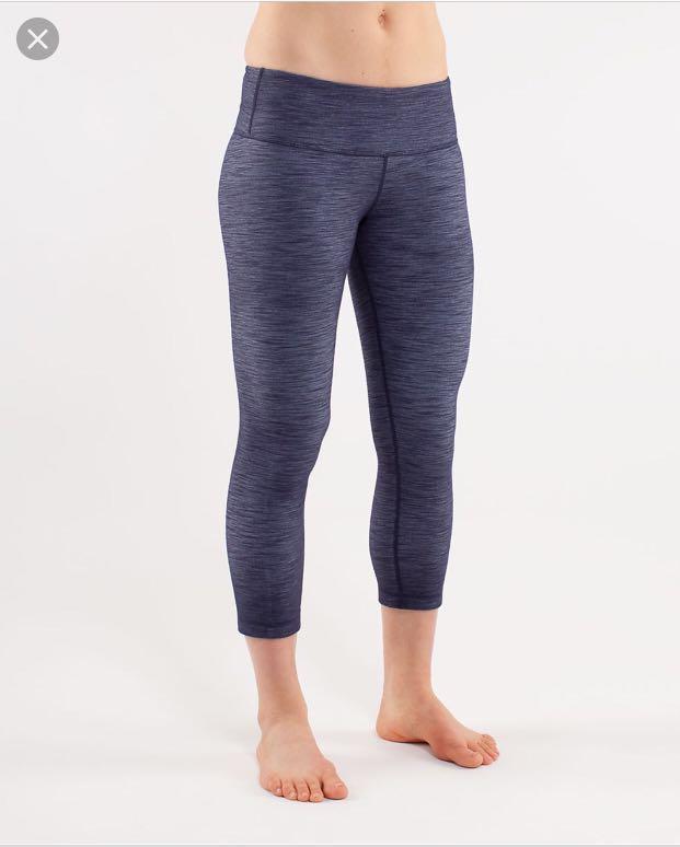 309f9f9d808 Lululemon Wunder Under Blue Denim Long Pants, Sports, Sports Apparel ...