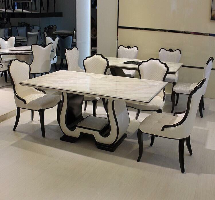 Share This Listing & LUXURY SERIES: Granite Dining Table Furniture Tables \u0026 Chairs on ...