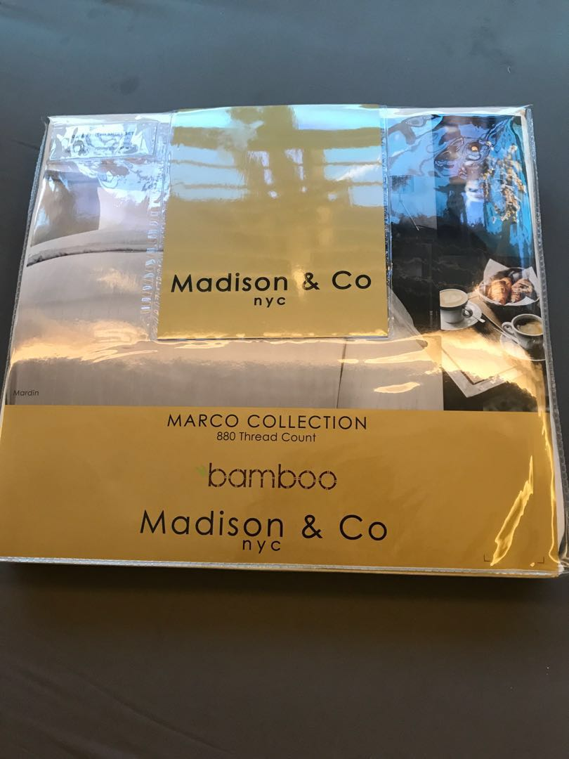 Madison Co Queen Bedsheet Set Bamboo 880tc Furniture Home Decor Cushions Linen On Carousell