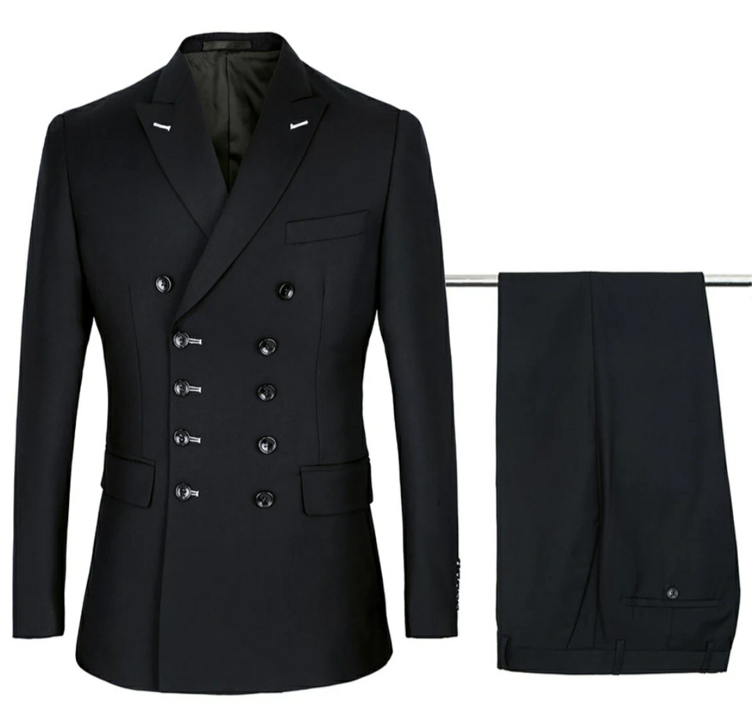 3e190914878e Men suits double breasted black 2pc suits, Men's Fashion, Clothes ...