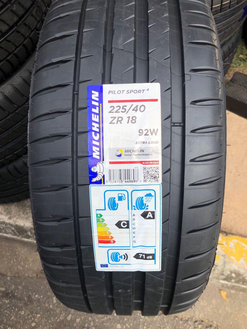 michelin pilot sport 4 225 40r18 brand new tyre for sale. Black Bedroom Furniture Sets. Home Design Ideas