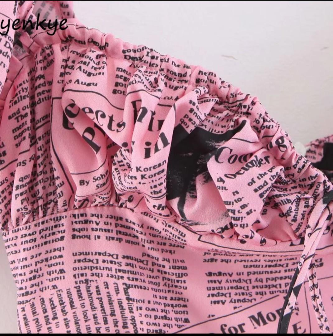 Mini Pink Newspaper Dress