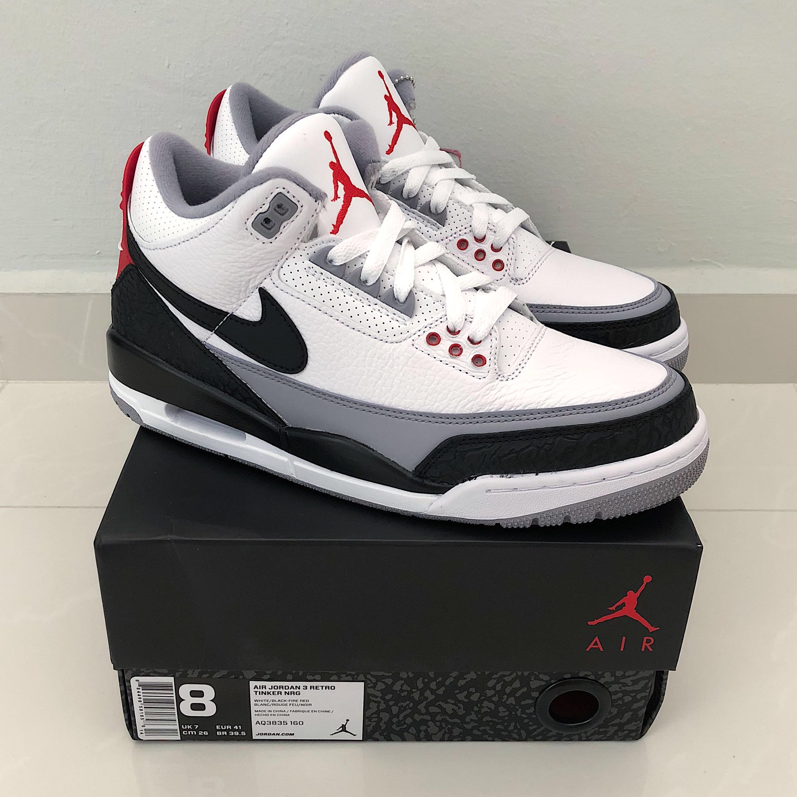 newest collection 7ca2c abc59 Nike Air Jordan 3 NRG  Tinker , Men s Fashion, Footwear, Sneakers on  Carousell
