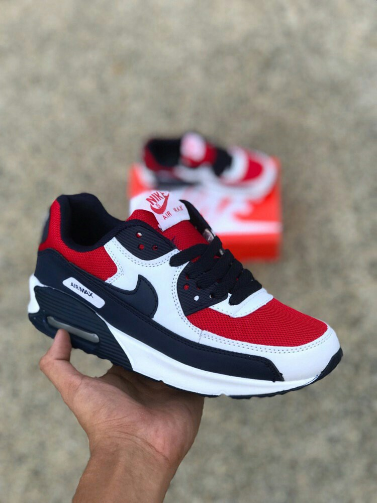 the latest d8e46 23867 Nike Airmax 90 Blue Red