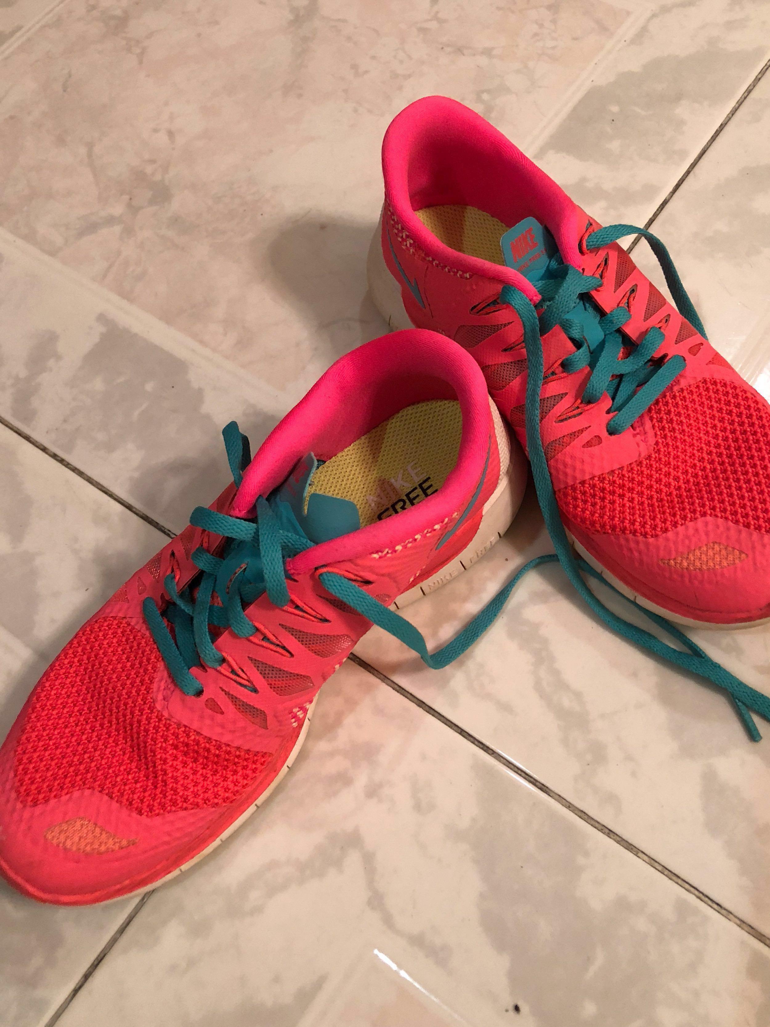 NIKE Neon Running Shoes, Women's