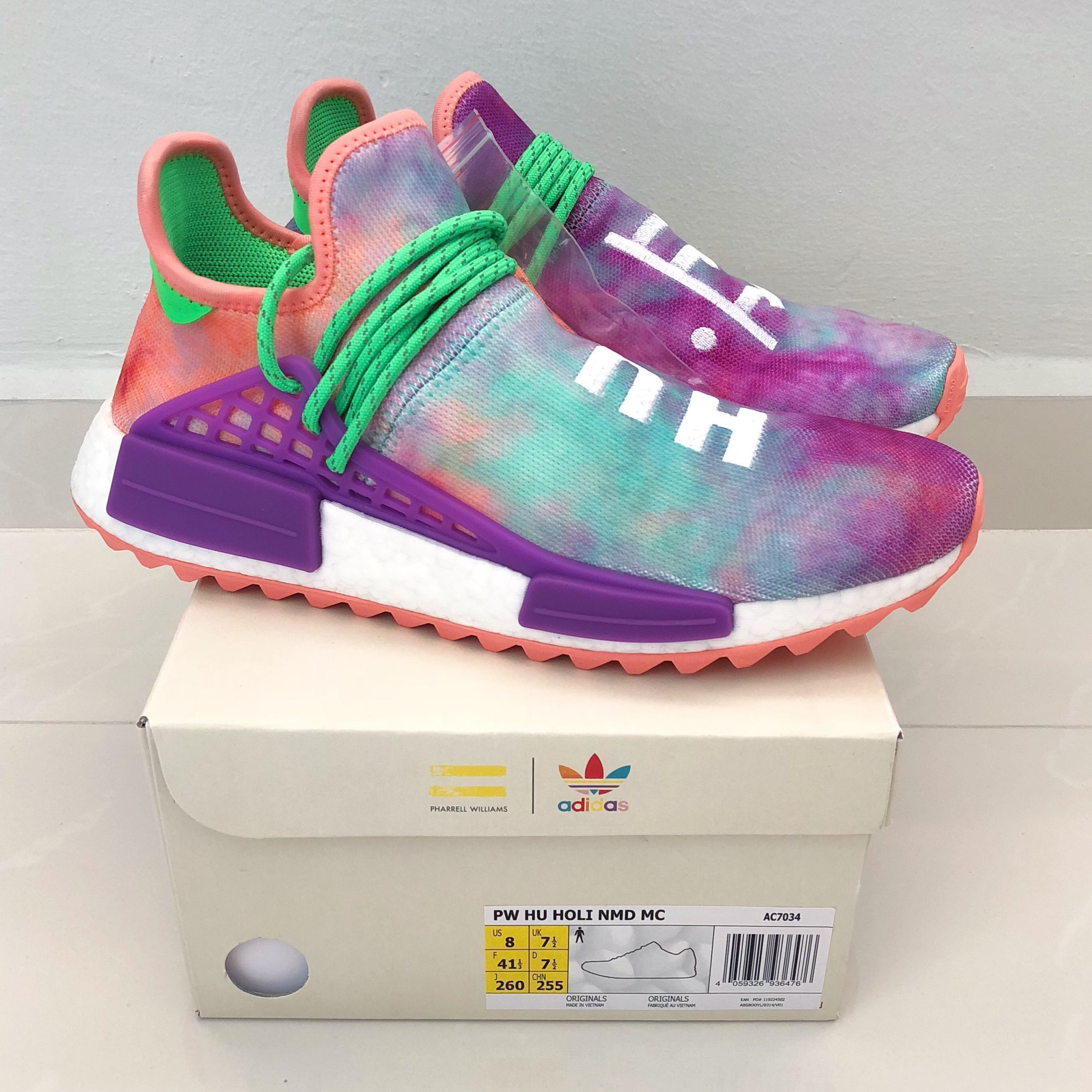 c3cd6022ab3cd Pharrell Williams x Adidas NMD Hu Holi MC  Chalk Coral
