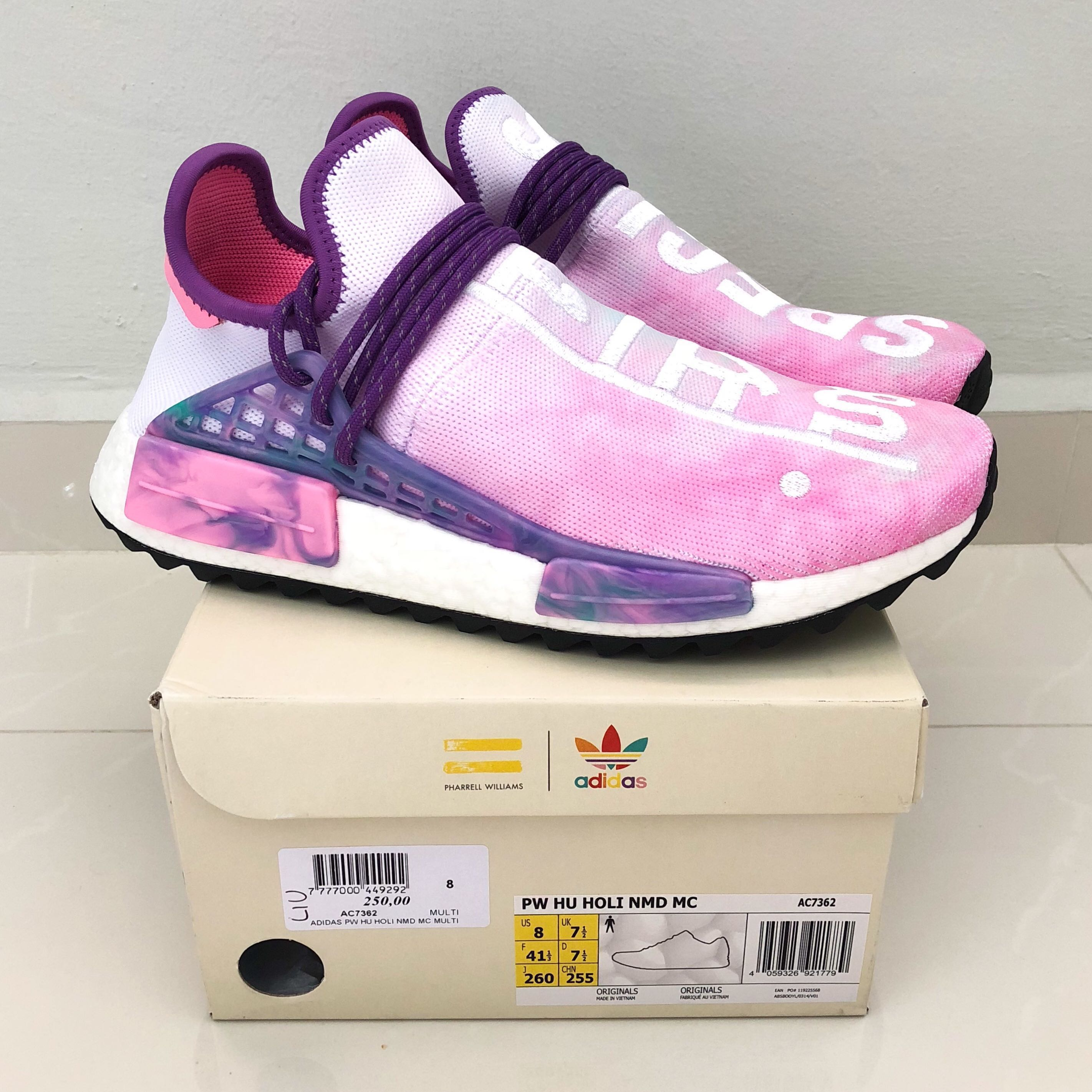 7b1c72504 Pharrell Williams x Adidas NMD Hu Holi MC  Pink Glow