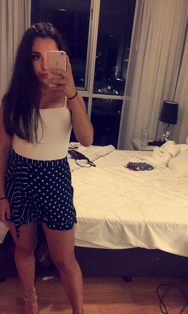 POLKA DOT STRIPE SKIRT
