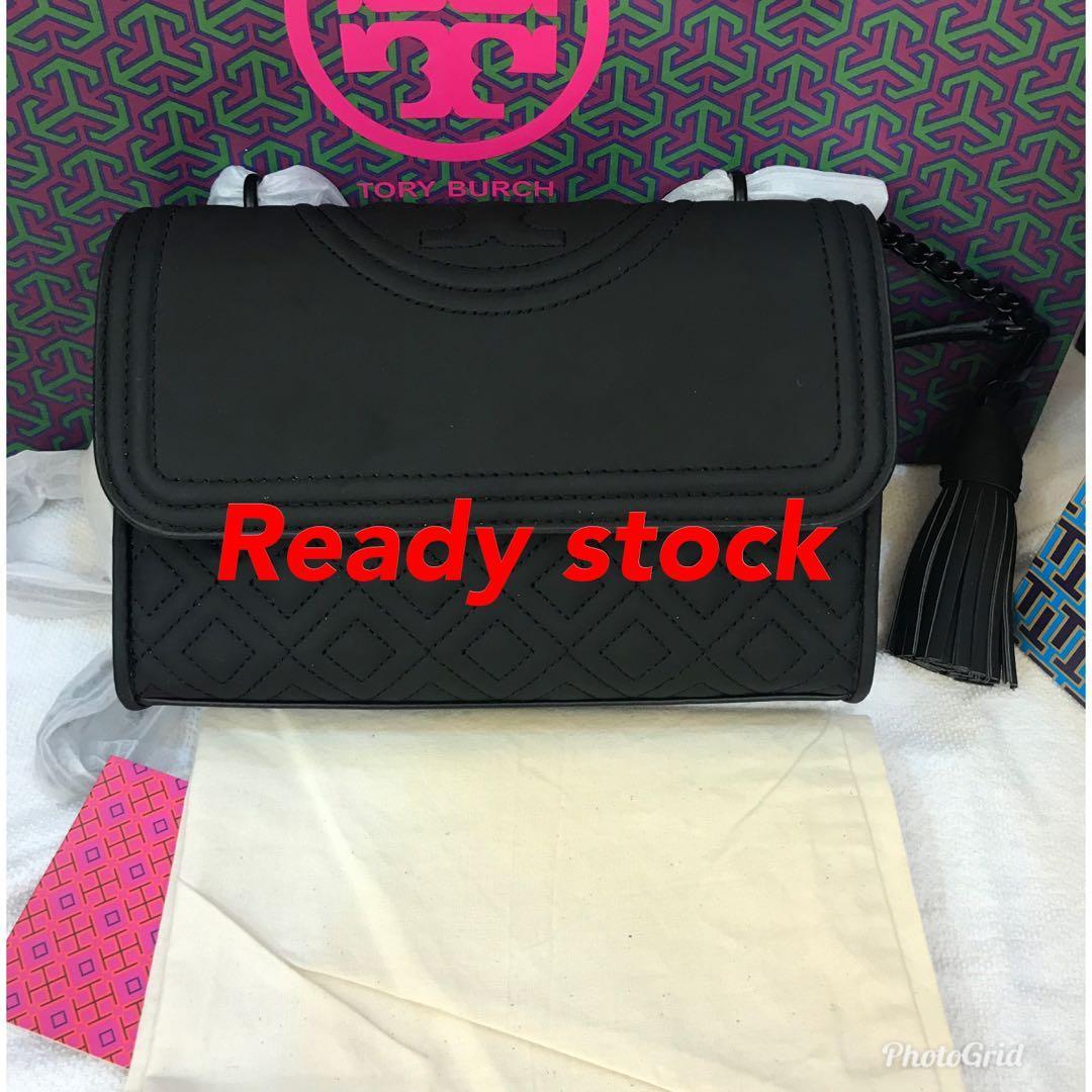 Ready Stock Authentic Tory Burch Matt black small