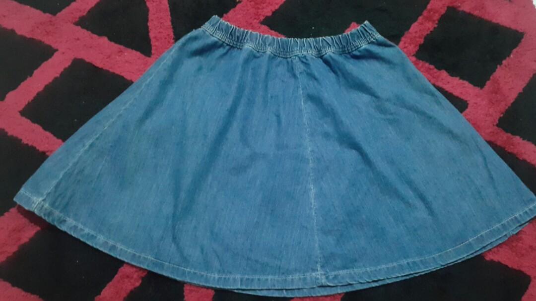 Rok Jeans Bershka / Mini Skirt Jeans Berskha