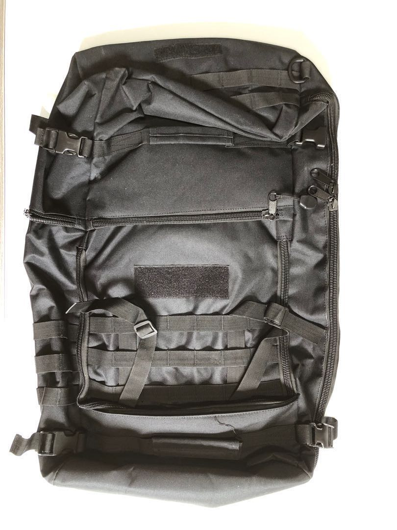 6f894a430a3 SAF EMART Heavy Duty Black Mission Backpack, Men's Fashion, Bags ...