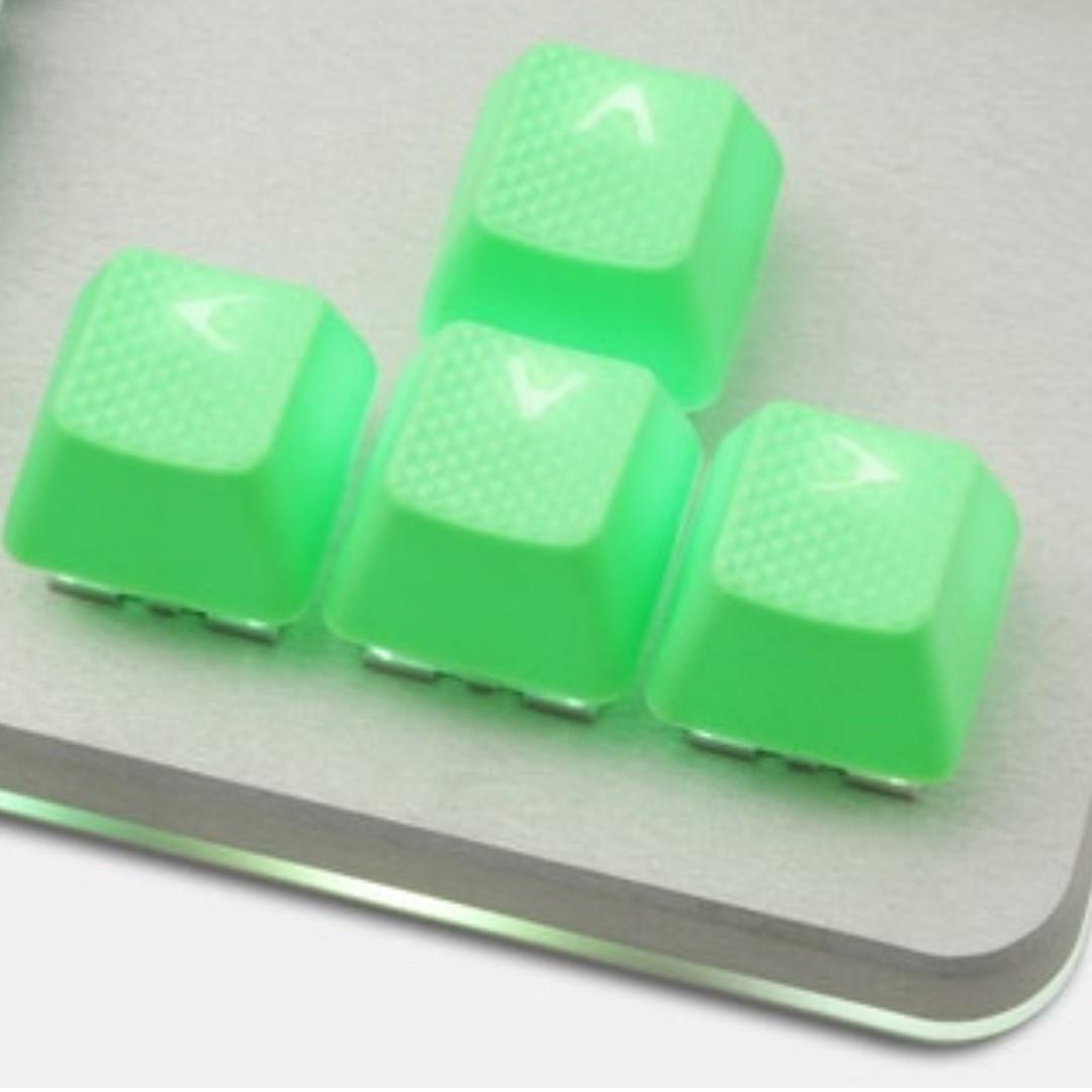 Tai-Hao Neon Rubber Backlit Gaming Keycap Set (PARROT GREEN