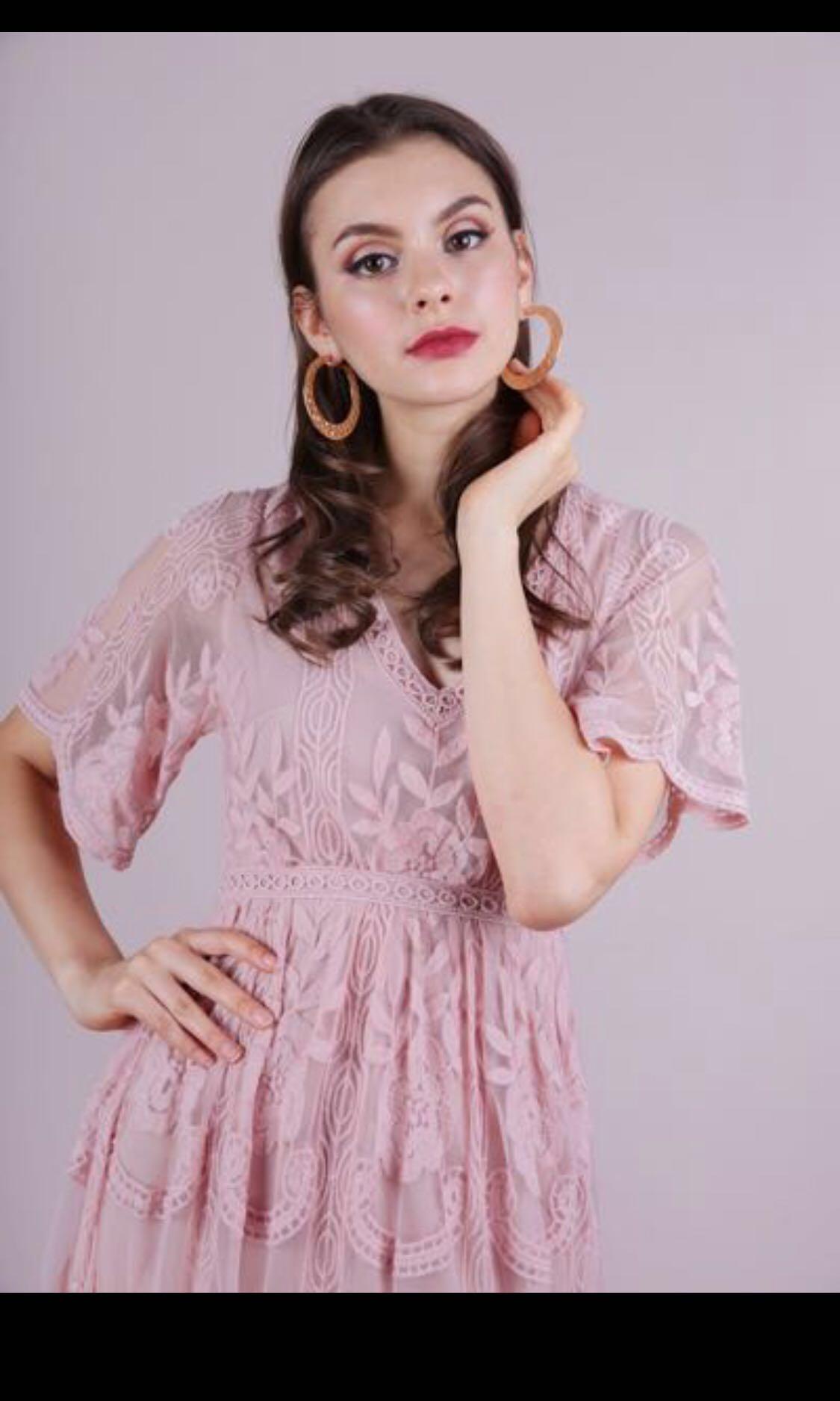 841e9a2f3b8 TTR Isla Mesh Embroidery Maxi Dress