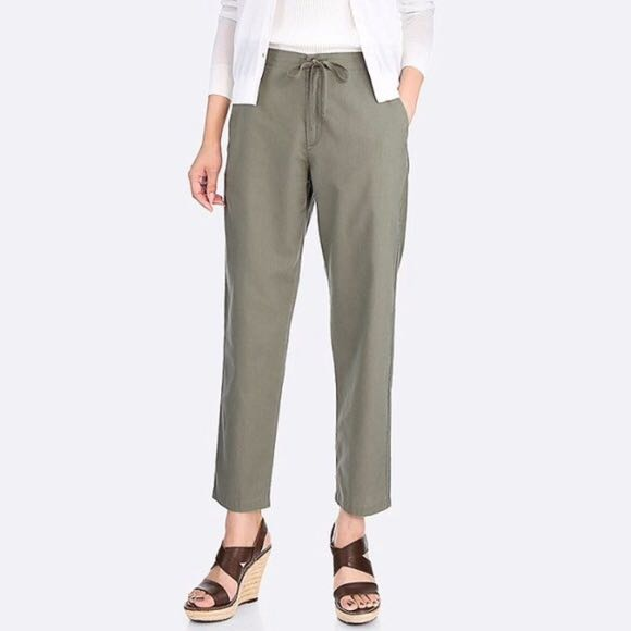 667591369653 Uniqlo Cotton Linen Relaxed Pants