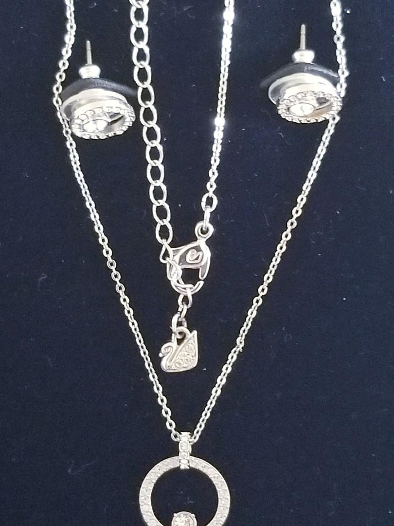 Valentine's Day Present- Swarovski Necklace and Earrings Set