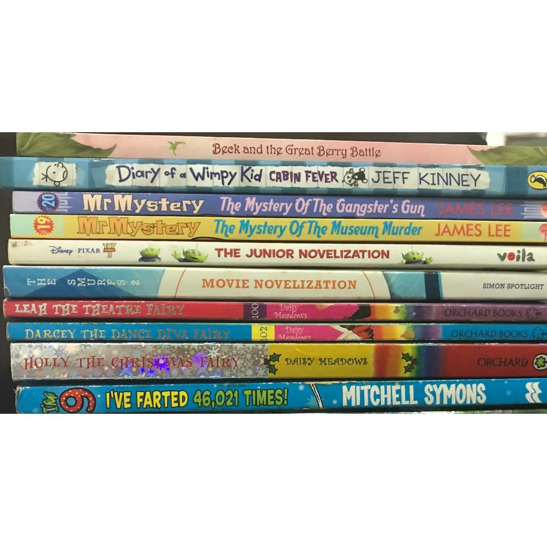 Various Books - Smurfs 2, Toy Story 3, My Mystery, Diary of a Wimpy Kid and Rainbow Magic Fairies