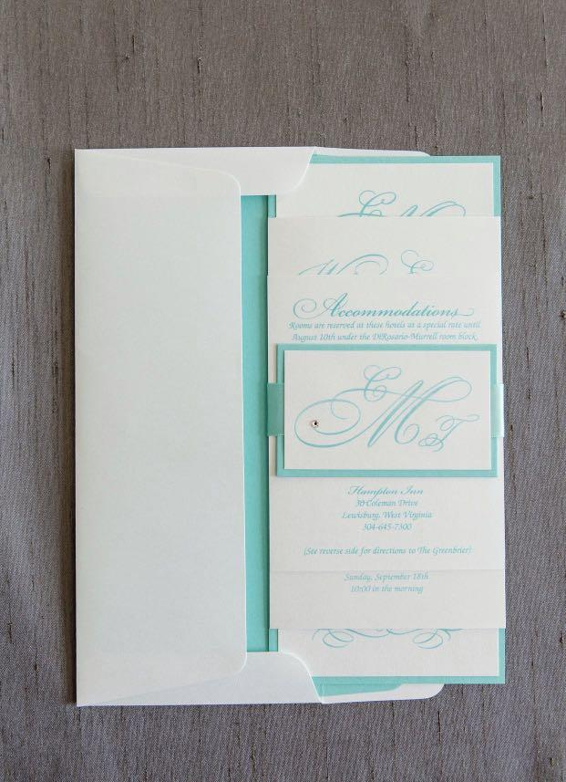 Wedding Invitation Tiffany Blue And White Design Craft Handmade Goods Accessories On Carousell