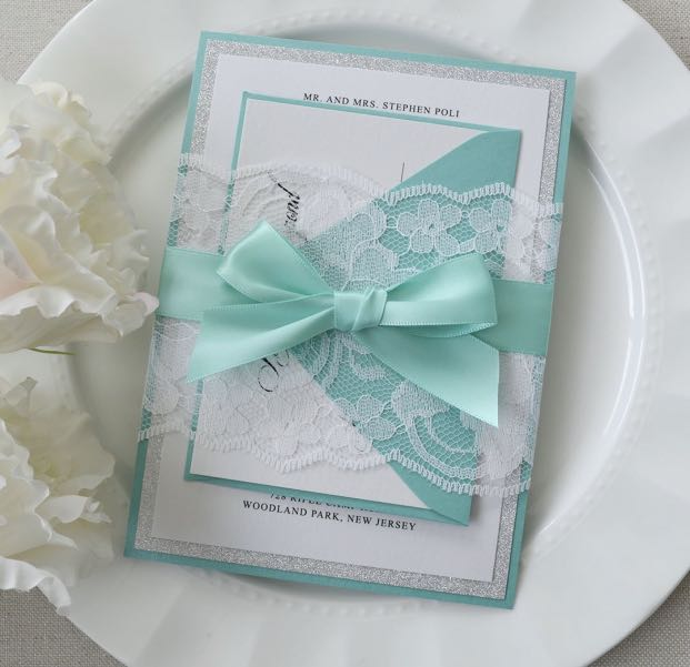 Wedding Invitation Tiffany Blue And White Design Craft Others On Carousell
