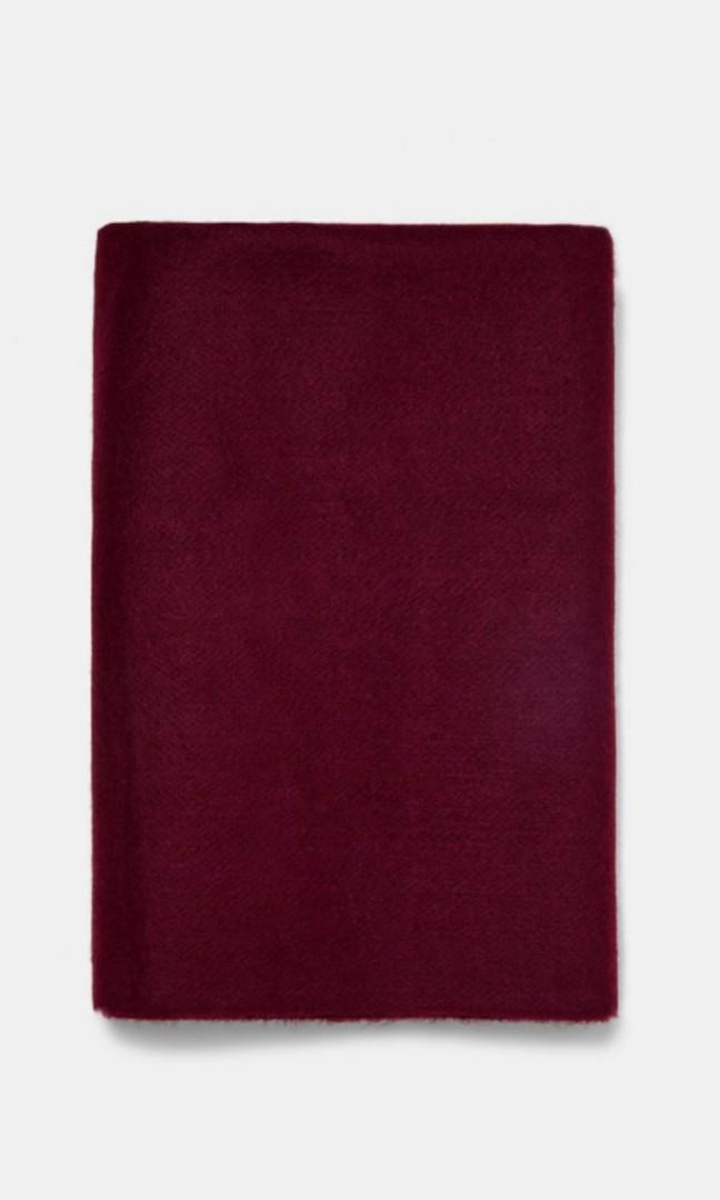 Zara soft fringed scarf