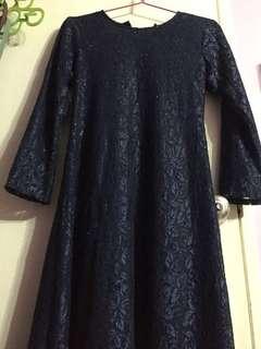 🚚 Navy blue lace dress