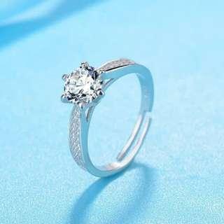 Cincin Berlian Lapis Emas Putih sudah termasuk kotak perhiasannya Jual Murah tipe LIGHT OF STAR
