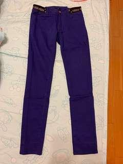 🚚 Heather深紫色鬆緊長褲