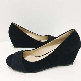 Chelsea suede wedge shoes