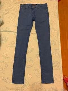 🚚 藍色修身窄管長褲