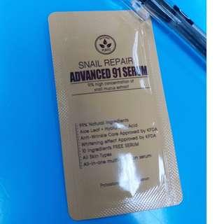 sample purito snail repair advanced 91 serum
