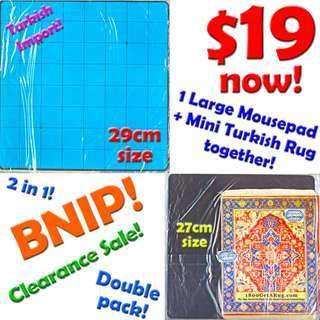 Mousepad (SPECIAL AUTHENTIC TURKISH RUG BUNDLE!) *CLEARANCE SALE! Great Price offer for 2 in 1 packet now! Limited Stock! BNIP!*