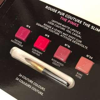 🚚 YSL Rouge Pur Couture The Slim Matte Lipstick Sample Pack - The Pinks
