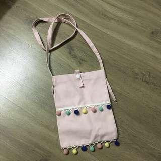 🚚 Pom Pom Sling Bag