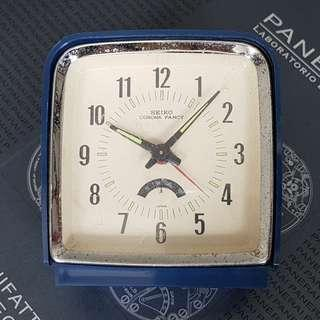 Vintage Seiko Corona Fancy Manual Wind Alarm Clock