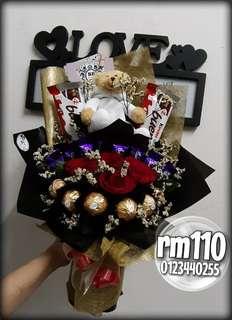 chocolate mix flower bouquet