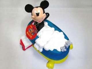 🚚 迪士尼正版 米奇泡澡存錢桶
