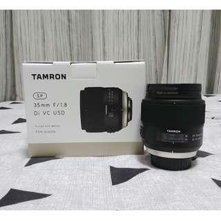 Tamron SP 35mm f1.8 Di VC USD and b+w uv filter + warranty ( full frame , nikon mount FX version )