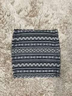 H&M Aztec bodycon Skirt