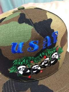 Supreme USAF Panda Camo 6 panel camp cap