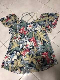 Brand new floral off shoulder dress
