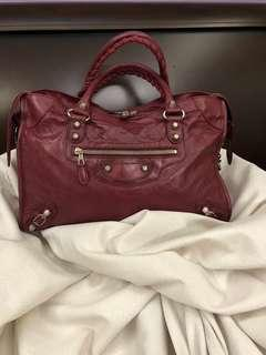 AUTHENTIC Balenciaga City Cassis in G12 Silver