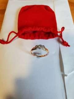 Valued at $4k, Beautiful 3 stone Diamond Ring