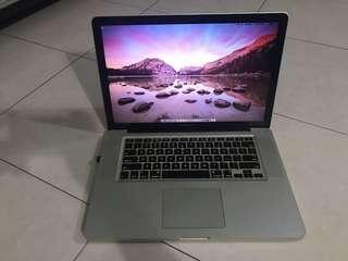 """Macbook Pro 15"""" i5 2.4GHz 4gb ram 256gb ssd"""