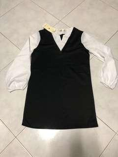 Brand new black white dress