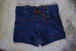HW boho denim shorts