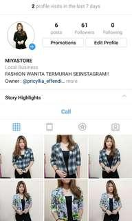 MIYA STORE IS AVAILABLE ON INSTAGRAM
