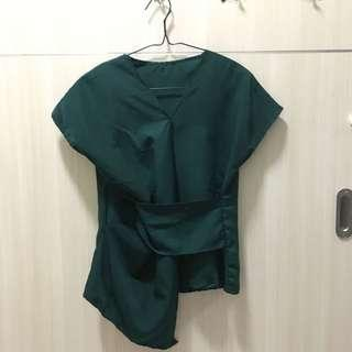 Green asymetris top #CNY2019