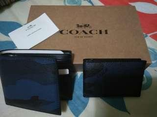 Authentic Coach Compact ID Wallet (Brand New)